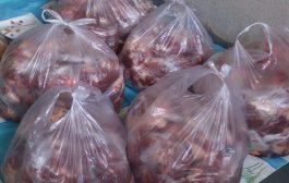 توزیع گوشت قربانی بین مددجویان تحت پوشش در روز عید قربان